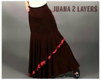 NEW** JUANA LAYERS Flamenco skirt  ,Flamencita design. Tribal fusion , gypsy.