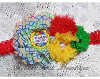 Autism Headband. Toddler Headband, Infant Headband, Girls Headband