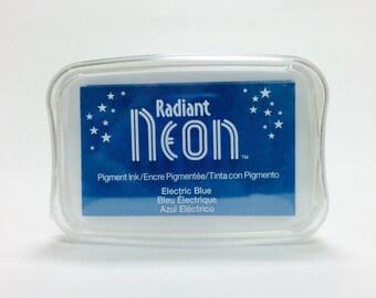 Tsukineko Radiant Neon Pigment Ink in Electric Blue