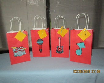 instrument favor bags, music favor bags, band favor bags,
