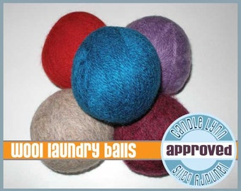 3 Handmade Wool Dryer Balls - Scented or Unscented