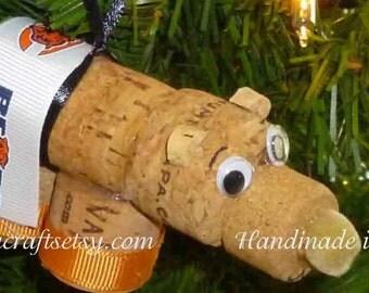 Chicago Bears Christmas  ornament/gift bottle tag