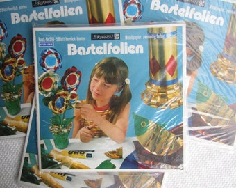 Vintage West German Metal Paper Craft Material Bastelfolien