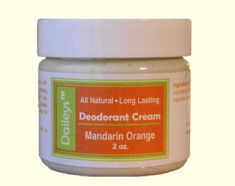 Mandarin Orange - Deodorant Cream - All Natural Aluminum Free