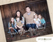 Simply Merry Christmas One Picture Card Design (4x6, 5x7 and 6x7.5)