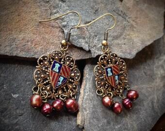 Medieval Coat of Arms Earrings