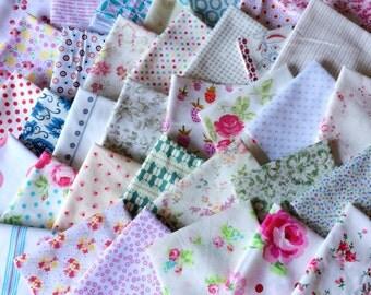 Designer Fabric SCRAP PACK in Low Volume, 20 pieces