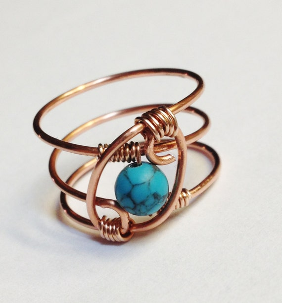 turquoise ring turquoise jewelry december by spiralsandspice