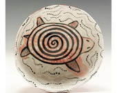 Jenny Mendes Ceramic Pinch Bowl with Turtle Design