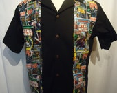 Star Wars Comic shirt Custom small to 3XL  Panel/blowing shirt style