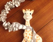 Polka Dot Fancy Elastic Sophie the Giraffe and Toy Leash