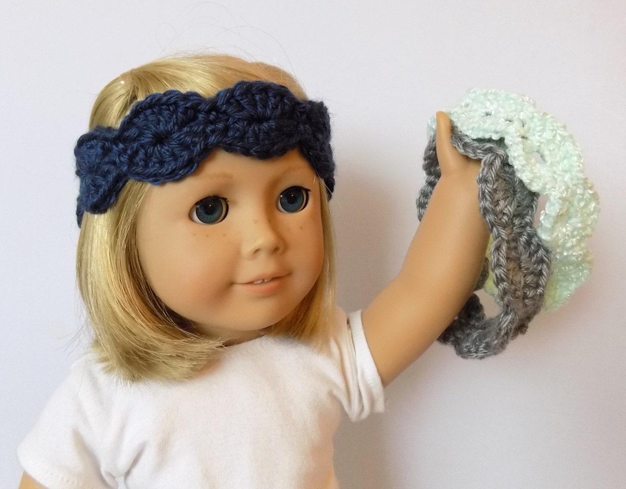 Knit Doll Headband Doll Clothes 18 Inch Doll By