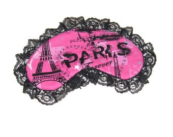 Pink Black Paris Sleep Mask/Eyewear