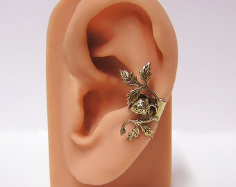 Strawberry on a Vine Ear Cuff (br)
