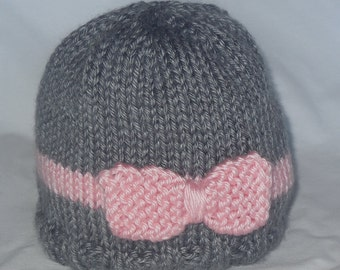 PATTERN - Bow Tie Baby Hat