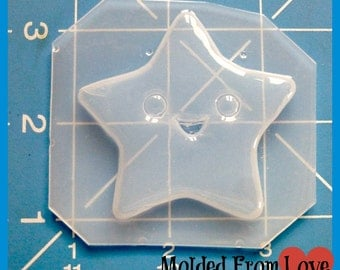 SALE Danette's Kawaii Happy Star  Plastic Handmade Resin Mold