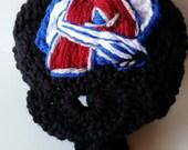 Baby Avalanche Helmet, NHL Avalanche baby Shower, Colorado Avalanche