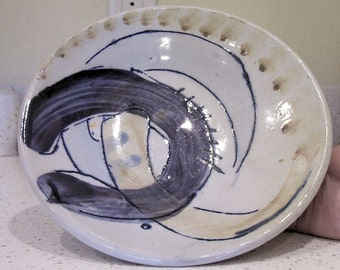 MIDCENTURY MODERN Pottery Bowl Shallow Bowl