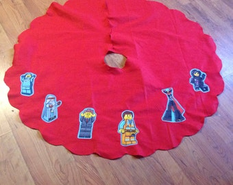 Lego movie inspired Christmas tree skirt (not a licensed product)