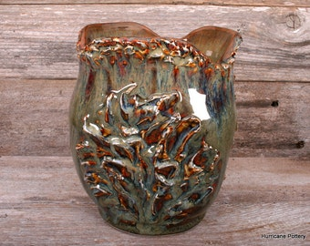 Textured Ceramic Art Pottery Vase Vessel Hand Thrown and Altered