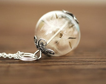 925er Silver True Dandelion Necklace