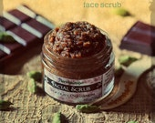 Organic Facial Scrub - Chocolate Cardamom - yummy delicious exfoliant for face