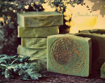 Absinthe Soap. Organic, vegan, magical, artisan Witch Soap. All natural