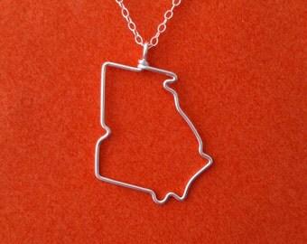Georgia State Necklace