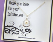 Mother Of The Bride Card With Sterling Silver Infinity Necklace - Gift Boxed Necklace For Mother