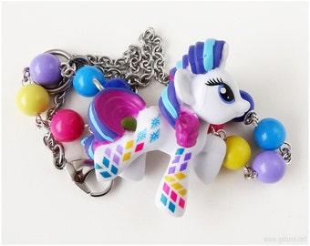Rainbowfied Rarity Necklace, Stainless Steel, Beaded Rainbow Chain - MLP, Spank Kei