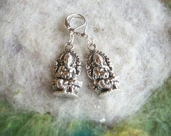 Ganesha Earrings, Simple Zen, Hindu, Meditation, Peaceful Delicate and Intricate