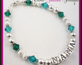Gift for Nana, Bracelet for Grandma, Mother. Grandchild gift