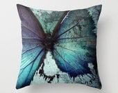 PAPILLON Throw Pillow Cases, Cushion Cases, Custom Photo Pillow, Photography Pillow Cover, Cushion Cover w/ Insert 16x16