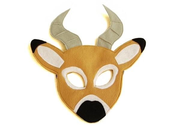 Children 39 s safari animal impala felt mask for Cheetah face mask template