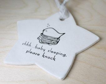 parisian . sign - Baby Sleeping Sign