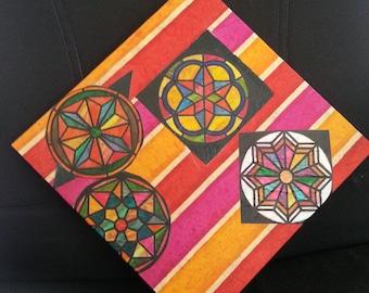 Kaleidoscope Mandalas Fine Art  14 by 14 inches