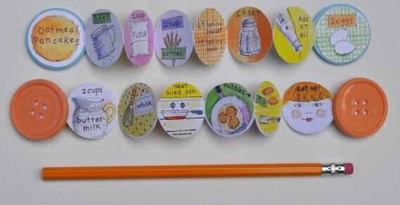 Button Book + Illustrated Pancake Recipe
