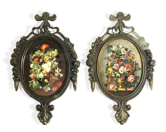 Two Floral Pictures in Frames