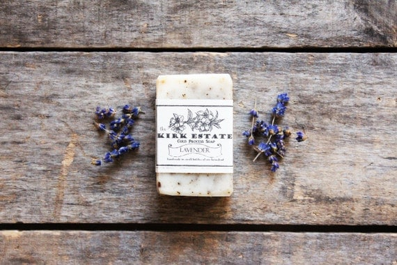 Lavender, The Flowers, small bar, cold process soap, organic ingredients, herbal natural vegan handmade soap, lightly scented, bath + body
