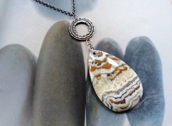 Zebra jasper Sterling silver pendant, wire wrapped necklace, OOAK jewelry, 50th birthday gift, for mother, for wife, anniversary gift