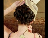 steampunk wedding costume hair style victorian regency reenactment hair accessory Updo historical hair piece hairpiece chignon bun holder