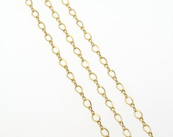 24 Inch Gold Filled 3x2mm Figure 8 Chain Necklace With Clasp - Custom Lengths Available