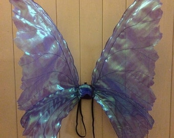 Iridescent mid purple life like fantasy fairy wings adult.