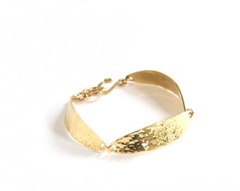 Orbital Bracelet - textured brass