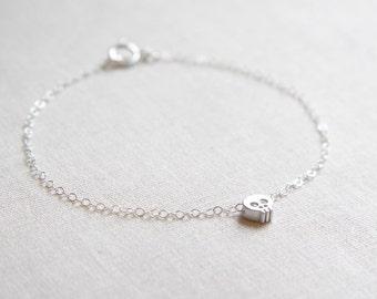 Mini Silver Skull Bracelet