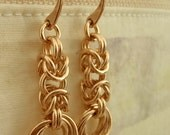 Bronze Earring Kit -  Byzantine Rose Chainmaille