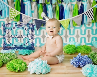 Bunting Banner Flags,Photography Prop,Nursery Decor,Garland,Birthday Deco,Home Decor,Lime Green,Turquoise,Grey,Navy Blue,Gray,Chevron,Dots