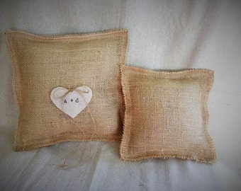 DIY burlap ring bearer pillow