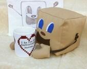 "Limited Quantity,Tiny Box Tim Plushie! Plush Toy. 5.5"" cube, Pillow. Markiplier Youtuber."
