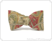 The Fasil - Red, Green and Gold Paisley Bow Tie